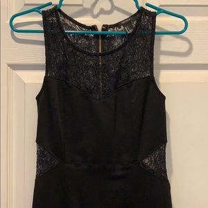 Forever21 black lace detailed body con dress
